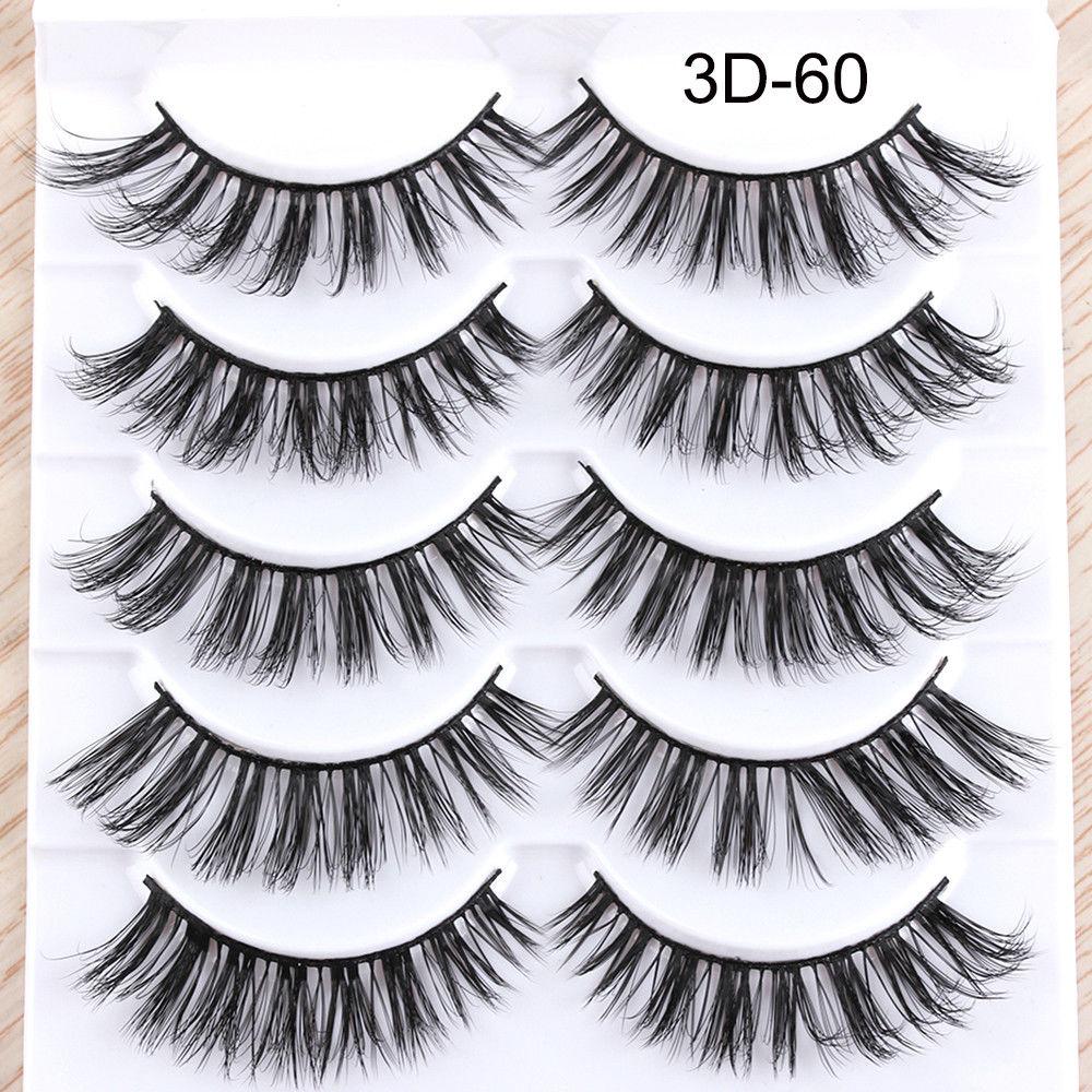 Eyelashes 5Pcs 3D imitation hairs false eyelashes naturally extend small bunches of fluffy eyelashes in False Eyelashes from Beauty Health