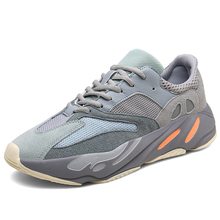 Hot Selling Brand Men's Running Shoes Black Gray Sneakers fo
