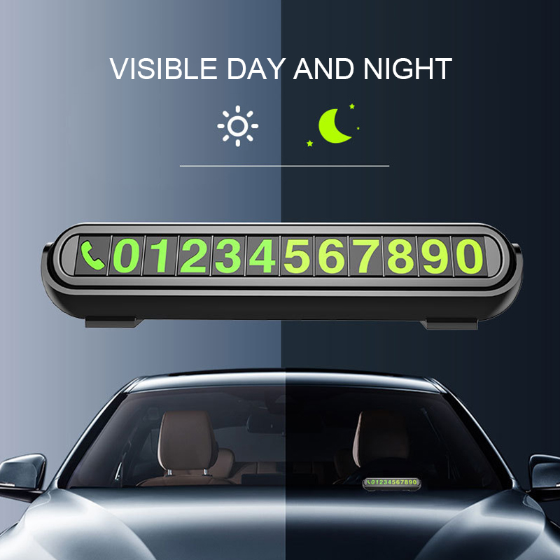 Image 3 - Hidden Temporary Car Parking Card with Aromatherapy Telephone Number Card Luminous Phone Number Card Plate for Car Accessories-in Car Stickers from Automobiles & Motorcycles
