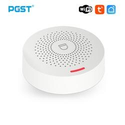 PGST PW150 Wifi Alarm System Wireless Security Burglar With Motion Detector Door Sensor Tuya App Control Smart Home Kits