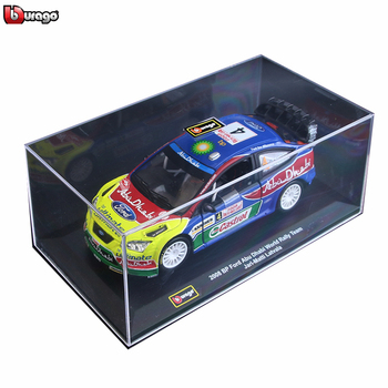 Bburago 1:32 WRC rally car model Ford Fiesta Citroen Ogier Alloy Model Collecting gifts