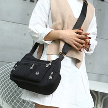 2021 Women Shoulder Messenger Bag Waterproof Nylon Oxford Fashion Crossbody Bag Handbags Large Capacity Travel Bags Purse Wallet