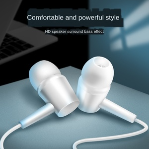 Applicable To Huawei Android 3.5mm Universal Smart Clear Call Mobile Phone Headset for Listening To Songs with Microphone In-ear