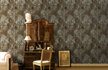 0.45*6m/Roll Vintage Damask Thick Wallpaper Vinyl Self Adhesive for Walls Hotel Office Bathroom Bedroom Home Decor