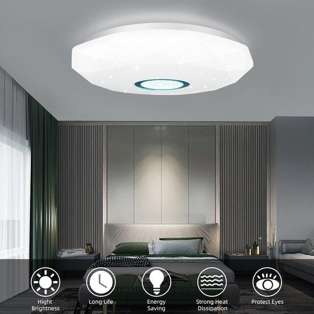 72W 36W LED plafonnier vers le bas lumière Surface montage panneau lampe AC 220V 3 couleurs changement lampe moderne pour éclairage de décoration intérieure