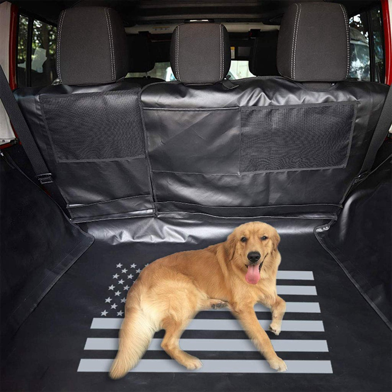 Dog Car Seat Cover Cargo Liner for Jeep Wrangler JK JKU 4 Doors 2007~2018 Waterproof Nonslip Washable Duty   All Weather Odorles Valve Covers     - title=