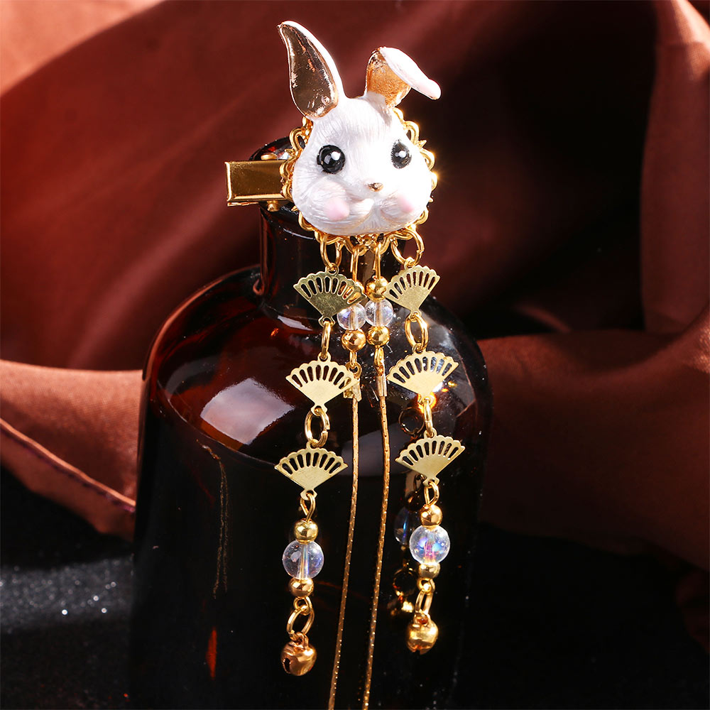1PC Cute Fox Rabbit Hairpin Tassels Hair Clip Cosplay Kimono Hanfu Handwork Hair Accessories Cute Girl Hair Pins Hair Jewelry