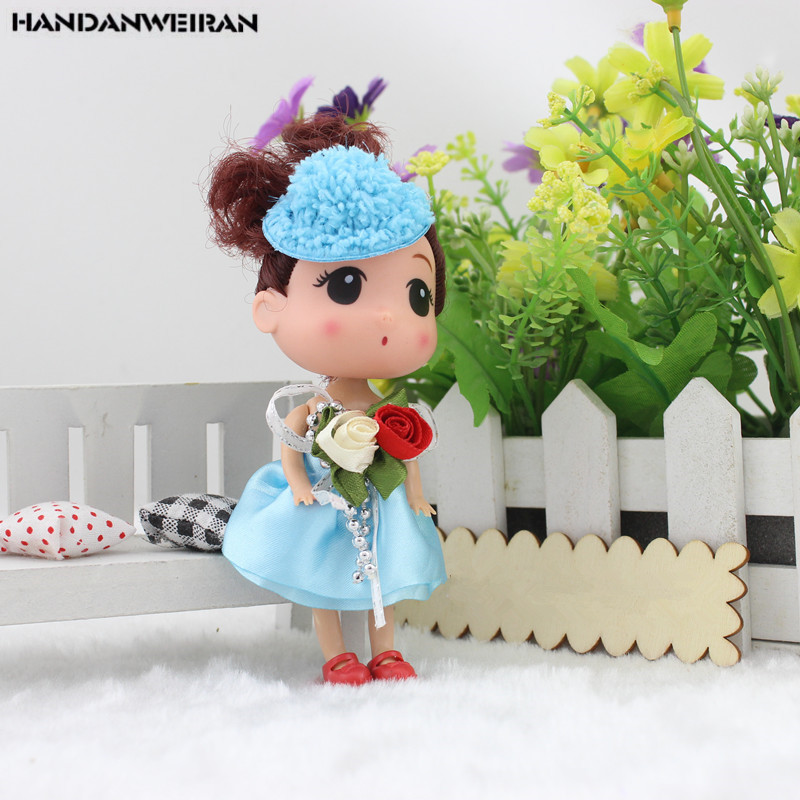 Cute Mini Silicone Girl Confuse Doll Toy Cake Dolls Small Pendant Soft Toys For Kids Christmas Gifts 2020 NEW Hot Sale 12CM 1PCS