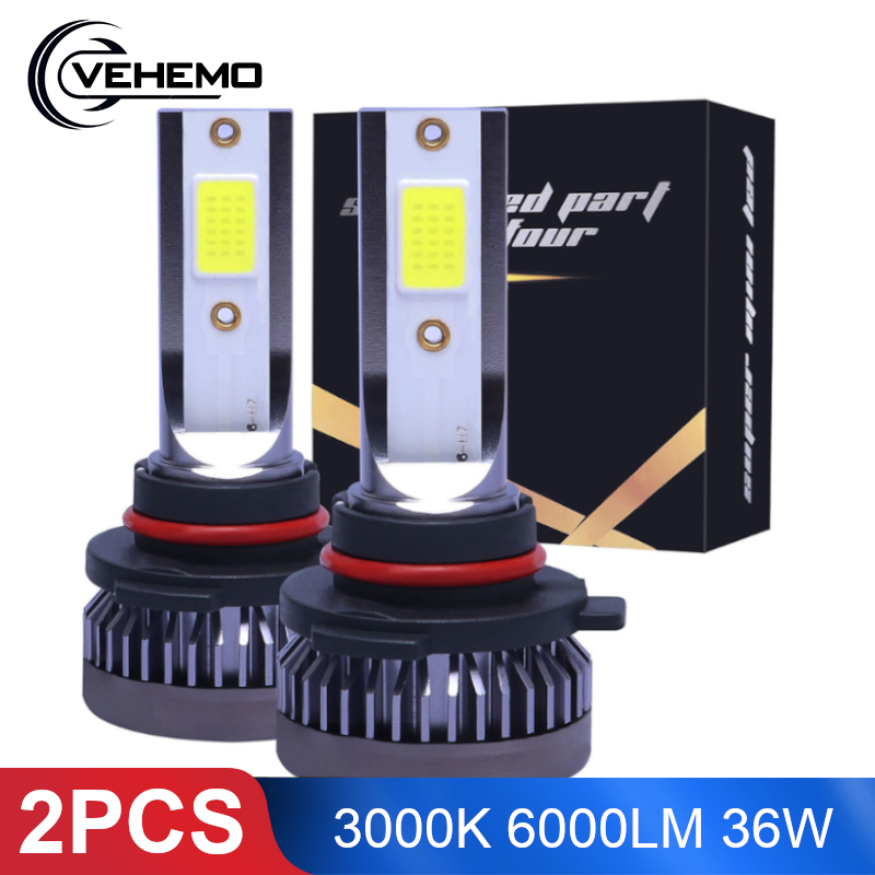 2PCS H1 <font><b>LED</b></font> Headlight <font><b>H4</b></font> H7 H11 HB4 9006 H8 H9 H10 9005 Car <font><b>LED</b></font> Light <font><b>Yellow</b></font> 3000K 6000LM 36W <font><b>LED</b></font> Lights <font><b>Bulbs</b></font> High Brightness image