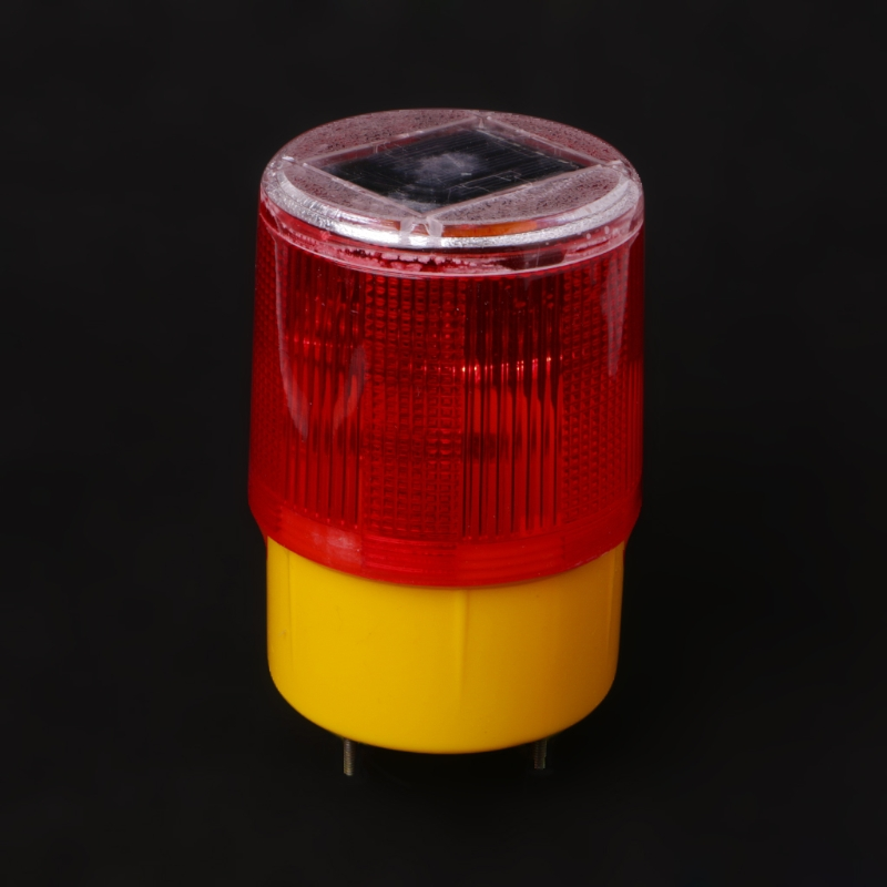 0.3w Solar Powered Emergency Strobe Warning Light Wireless Flashing Traffic Lamp