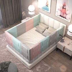 56 см высота детское постельное белье поручнем с регулировкой по высоте, анти-столкновения с двухсторонним движением детская кроватка крова...