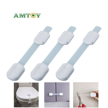 baby 4pcs baby child safety lock door buckle drawer cabinets anti pinch hand protect convenient AMTOY Super Practical Baby Safety Lock Cabinet Toilet Lock Drawer Door Cabinet Safety Lock Anti Pinch Hand Protection Fingers