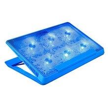 Mosunx профессиональный внешний для ноутбука охлаждающая подставка 12'-16' дюймов с вентилятором ноутбука Порт скользящая подставка для ноутбука кулер