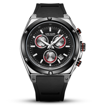 Fashion New Arrival Men Quartz Watch Silicone Fashion Chronograph Watches Waterproof Shockproof Man Sport Wristwatch in Quartz Watches from Watches