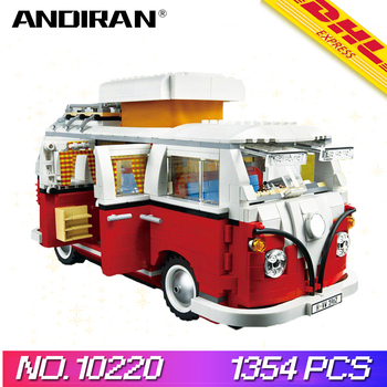 1354PCS Legoing Technic Bluding Blocks Volkswagen T1 Camper Van Model Bricks 10220 Bricks Toys for Children Christmas Presents