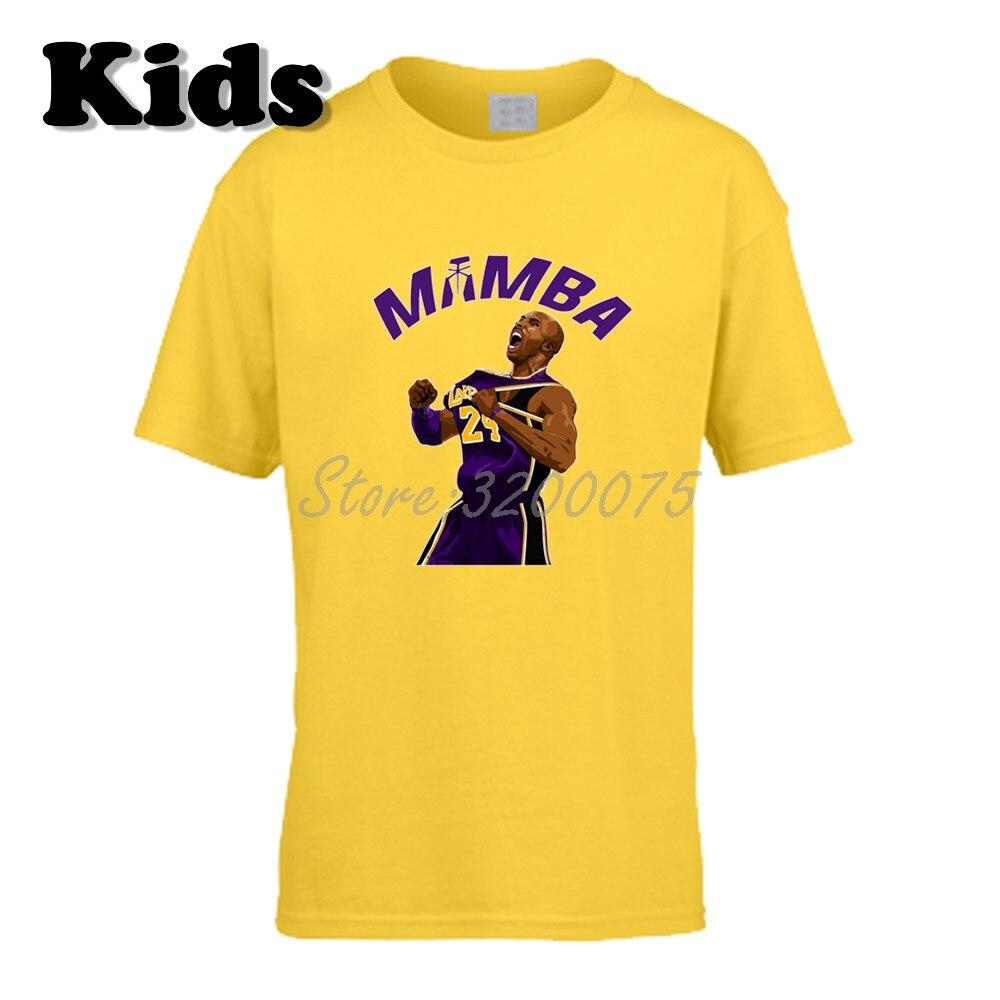 Kids T-shirt Mamba Kobe Bryant 24 Los Angeles Legend Clothes T Shirt Youth Boys Girl Tshirt O-neck Tee W19102610