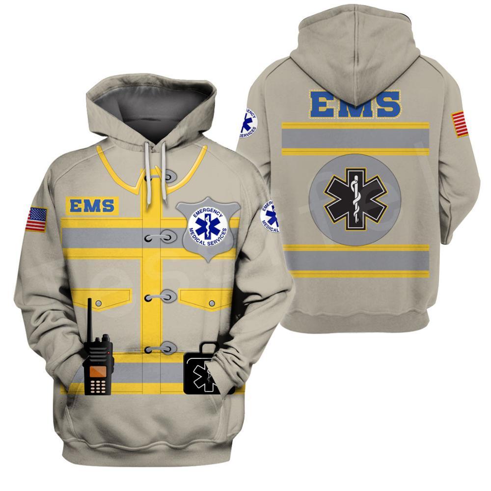 Tessffel Emergency Medical Technician EMT EMS Paramedic NewFashion Unisex Pullover 3DPrint Sweatshirts/Hoodies/zipper/Jacket B11