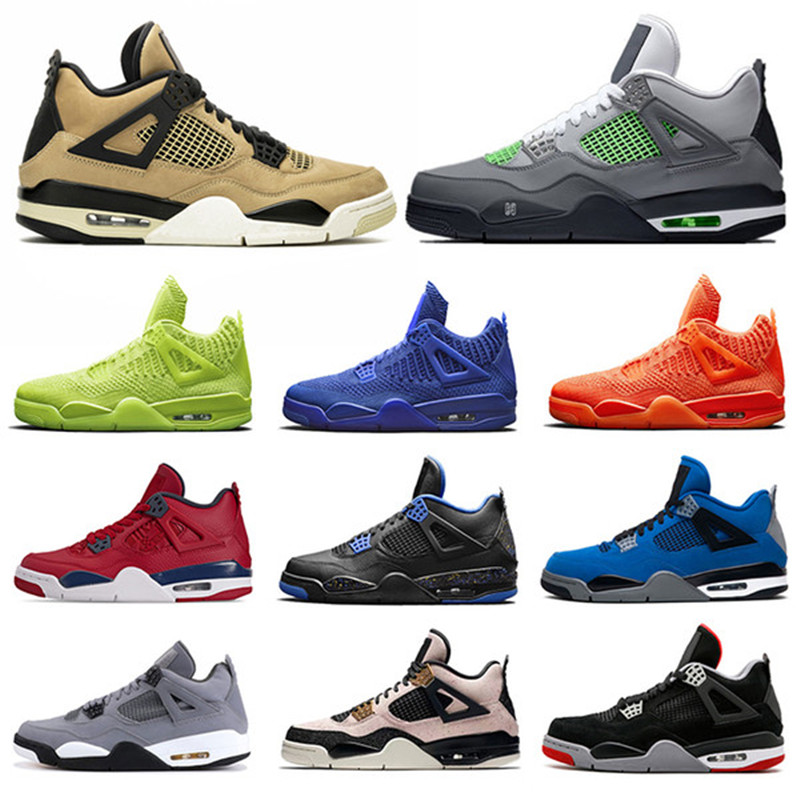 2020 New Men Basketball Shoes Retro 4 Thunder Pure Money Bred Cool Grey Flight Military White Designer Trainers Sport Sneakers