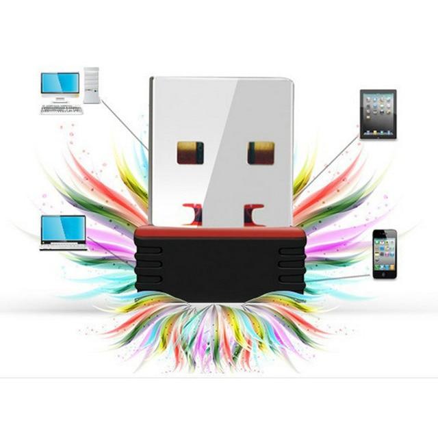 Nowy Mini 802.11n/g/b Wifi 2.4 GHz ~ 2.4835GHz Adapter sieci bezprzewodowej 150 mb/s klucz USB do laptopa PC Windows 7/10/xp/ Vista