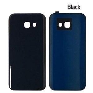 Image 2 - 10Pcs A320 A520 A720 Batterie Glas Abdeckung Ersatz Für Samsung Galaxy A3 A5 A7 2017 Zurück Gehäuse Tür mit klebstoff IMEI Drucken