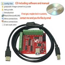 MACH3 4 Achse 100KHz USB CNC Holz Router Maschine Glatt Stepper Motion Controller karte breakout board 12 24V