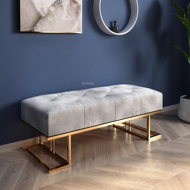 Light Luxury  Sofa Long Bench 4