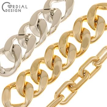 Cordial Design akrylowe koraliki UV poszycia w kształcie łańcucha CCB koraliki Hand Made biżuteria ustalenia i komponenty DIY akcesoria do koralików tanie i dobre opinie CN (pochodzenie) NONE Owalny kształt 25mm 10 7g Moda BD-10803