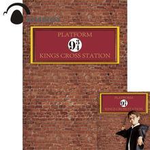 Allenjoy fotografik arka planlar photophone tuğla duvar sihirli okul 9 ve 3/4 kings çapraz İstasyonlu platform çocuk zemin