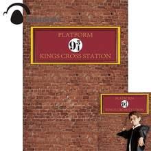 Allenjoy fundos fotográficos parede de tijolos photophone escola mágica 9 e 3/4 reis cruz estação plataforma crianças pano de fundo
