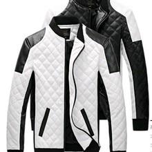 Мужские кожаные куртки, пальто, осенние черные, белые, в клетку, мужские кожаные куртки, пальто, зимняя кожаная замшевая Базовая куртка