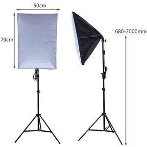 Image 2 - 2pcs 50x70CM 사진 Softbox 스튜디오 연속 조명 키트 135W 전구 사진 스튜디오 초상화 사진 촬영 비디오 촬영