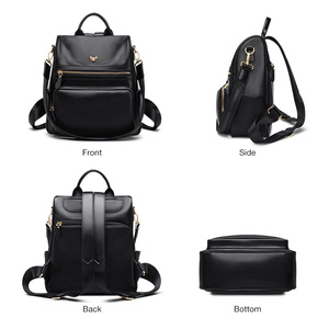 Image 2 - FOXER Genuine Leather Ladies Backpack Multifunction Women Travel Bag Anti theft compartment Large Capacity Girl School Bag