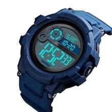 цена на SKMEI Men Sport Watch Digital 2 TIME Watches Waterproof Alarm Clock LED Sport Digital Watch relogios masculino часы мужские 1387