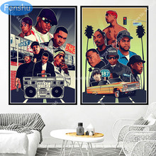 Poster 2PAC West Coast Hip Hop Biggie Smalls East Coast Canvas Painting Posters and Prints Wall Art Picture Living Room Decor(China)