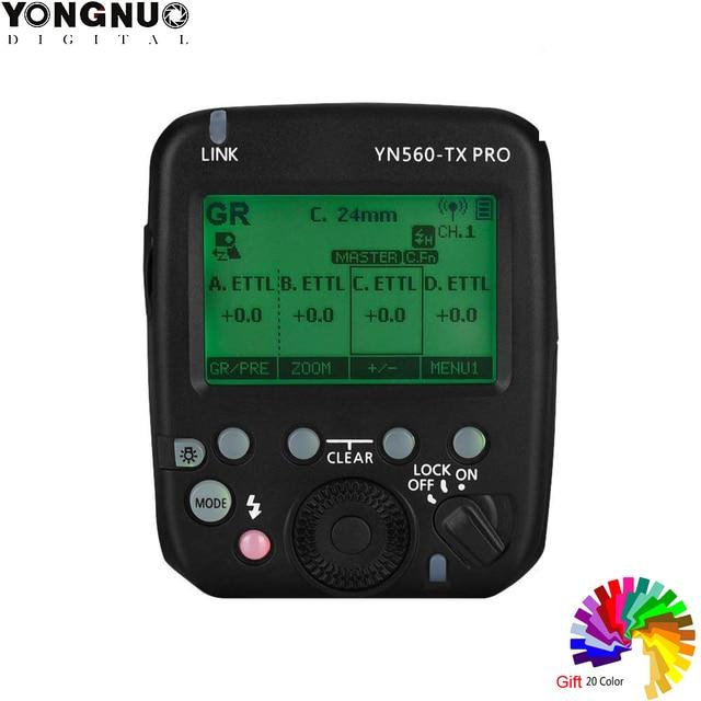 YONGNUO YN560 TX PRO 2.4G On Camera Flash Trigger for Canon Nikon/YN862C/YN968C/YN200/YN560IV/YN860Li/YN720/YN660/YN685/YN622II