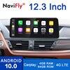 NaviFly Qualcomm Android 10,0 reproductor Multimedia para auto BMW X1 E84 2009-2015 navegación GPS 1920*720 Carplay DSP azul anti-glare