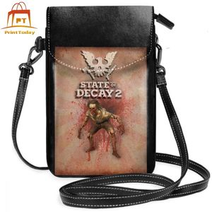 Image 2 - State Of Decay Shoulder Bag State Of Decay Feral Leather Bag Travel Trendy Women Bags High quality Pattern Slim Purse