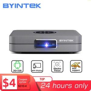 Image 1 - BYINTEK U20 Mini 3D 4K Full HD Android Wifi Smart Portable LED DLP Projector 1080P Beamer for Smartphone
