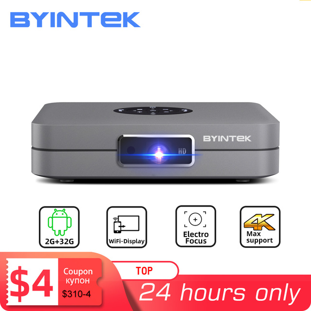 BYINTEK U20 Mini 3D 4K Full HD Android Wifi Smart Portable LED DLP Projector 1080P Beamer for Smartphone