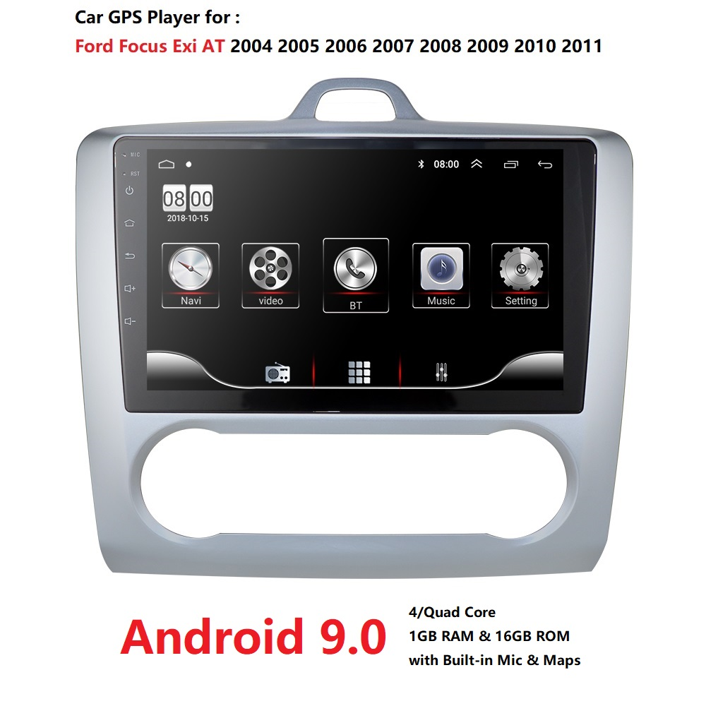 1G+16G Android 9.0 For <font><b>ford</b></font> <font><b>focus</b></font> 2 <font><b>Mk2</b></font> 2004-2011 Car Radio <font><b>Multimedia</b></font> Video Player Navigation GPS 2 din dvd image
