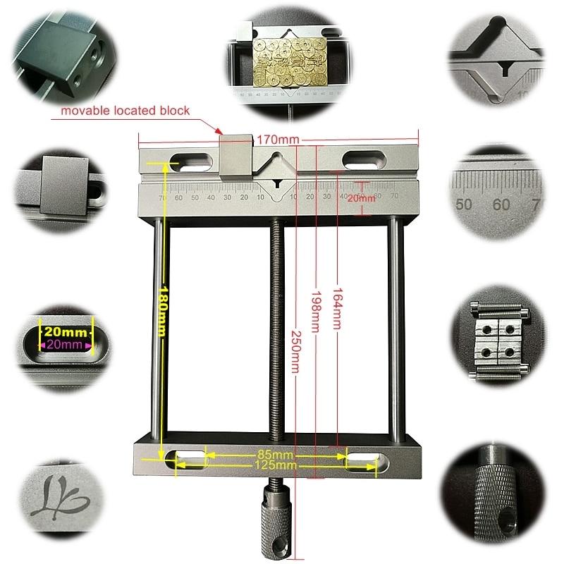 Aluminium Alloy Flat Tongs Vice Bench Drill Fixture Wood Router Metal Engraving Milling Cnc Kits