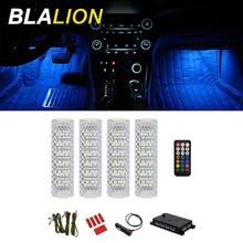 LED Car Atmosphere Light 12V Decorative Foot Lights With Cigarette Lighter App Music Control Ambient Lamp Car Interior Backlight