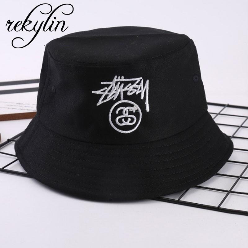 Bob-Hat Fishing-Hat Streetwear-Cap Embroidery Hip-Hop Harajuku Outdoor Women New-Fashion
