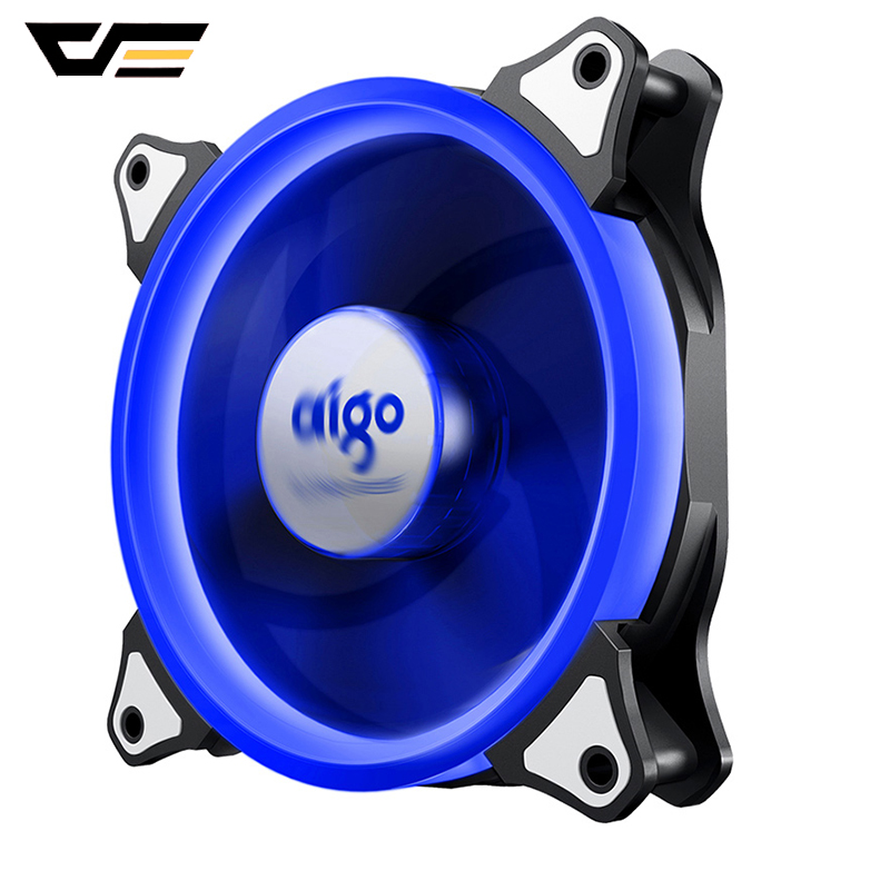 Aigo Halo Ring RGB Case Fan 140mm 3pin+4pin LED Case Fan for PC Case CPU Cooler Radiator Silent Desktop Computer Cooling Fans 1