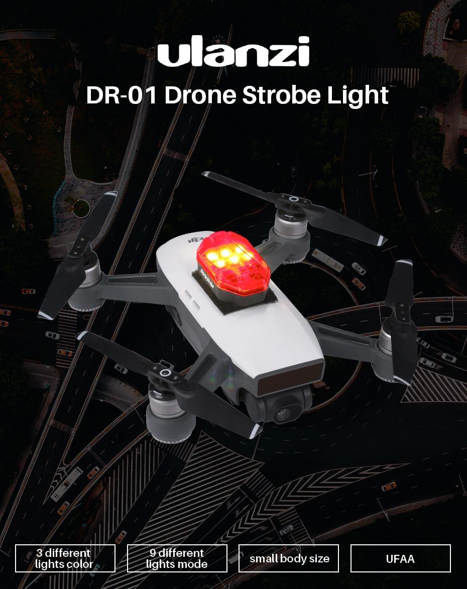 Flash Strobe Lampe Vol De Nuit Lumières DEL Support pour DJI Mavic 2 PRO Zoom Drone