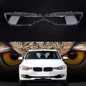 Car parts Pair Front Left&Right Transparent Plastic Headlight Head Light Lamp Lens Light Cover for BMW F30 F31 3 Series 2013-16