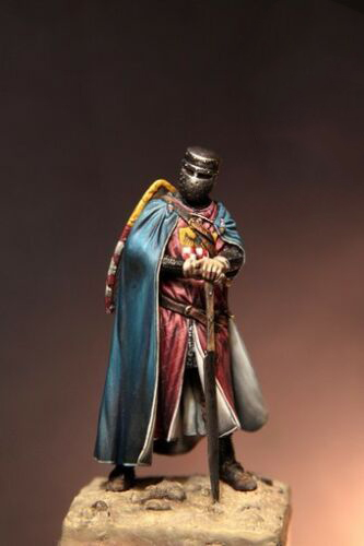 1/32 54mm  Ancient Knight  Stand With Base 54 Mm  Resin Figure Model Kits Miniature Gk Unassembly Unpainted