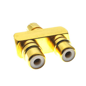 Image 5 - 1PCS 1 RCA TO 2 RCA Copper Gold Plated AV Audio Video Splitter Plug Adapter 1 Male to 2 Female Converter Connector