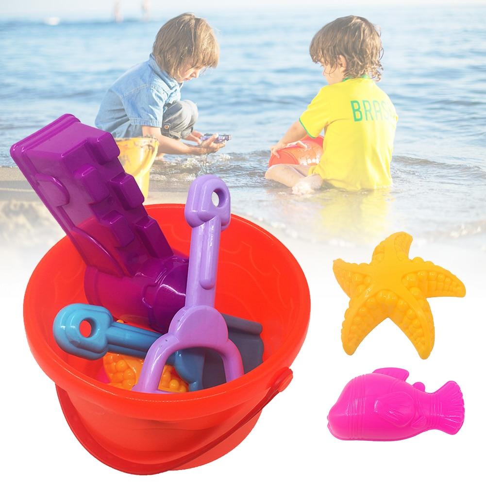 Swimming Pool Summer Bucket Shovel Rake Outdoor Activity Bathing Beach Toys Set Water Play Smooth Edge Non Toxic Sand Dredging