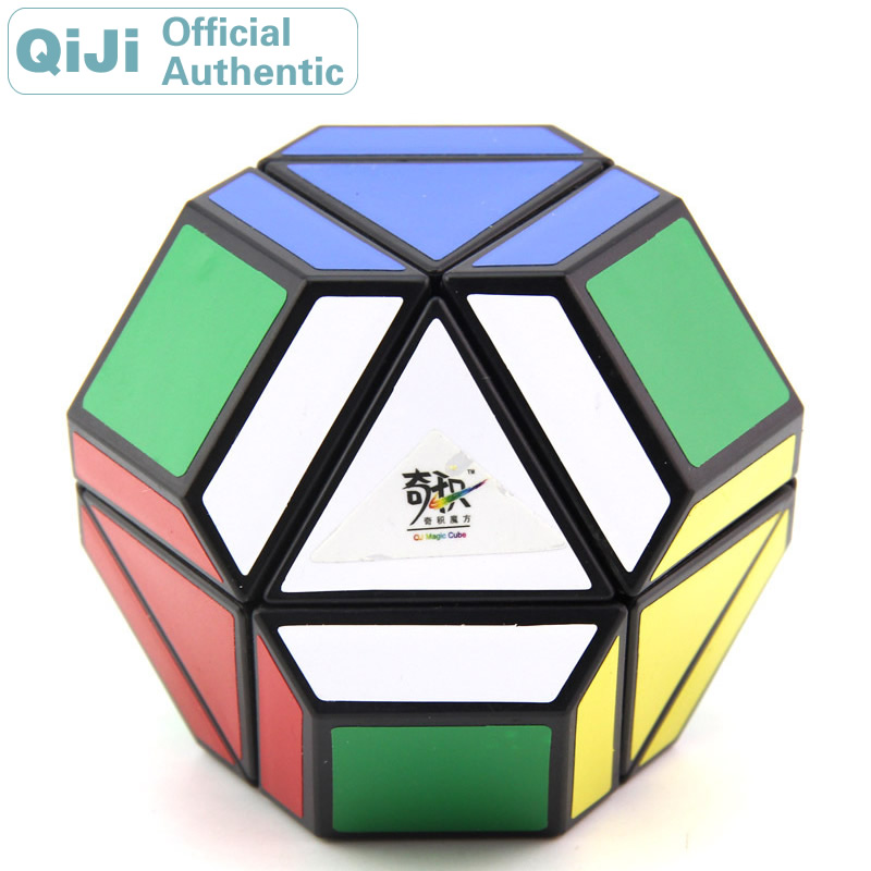 QiJi KingKong Megaminxeds Face Spectrum Magic Cube QJ Cubo Magico Professional Neo Speed Cube Puzzle Antistress Toys For